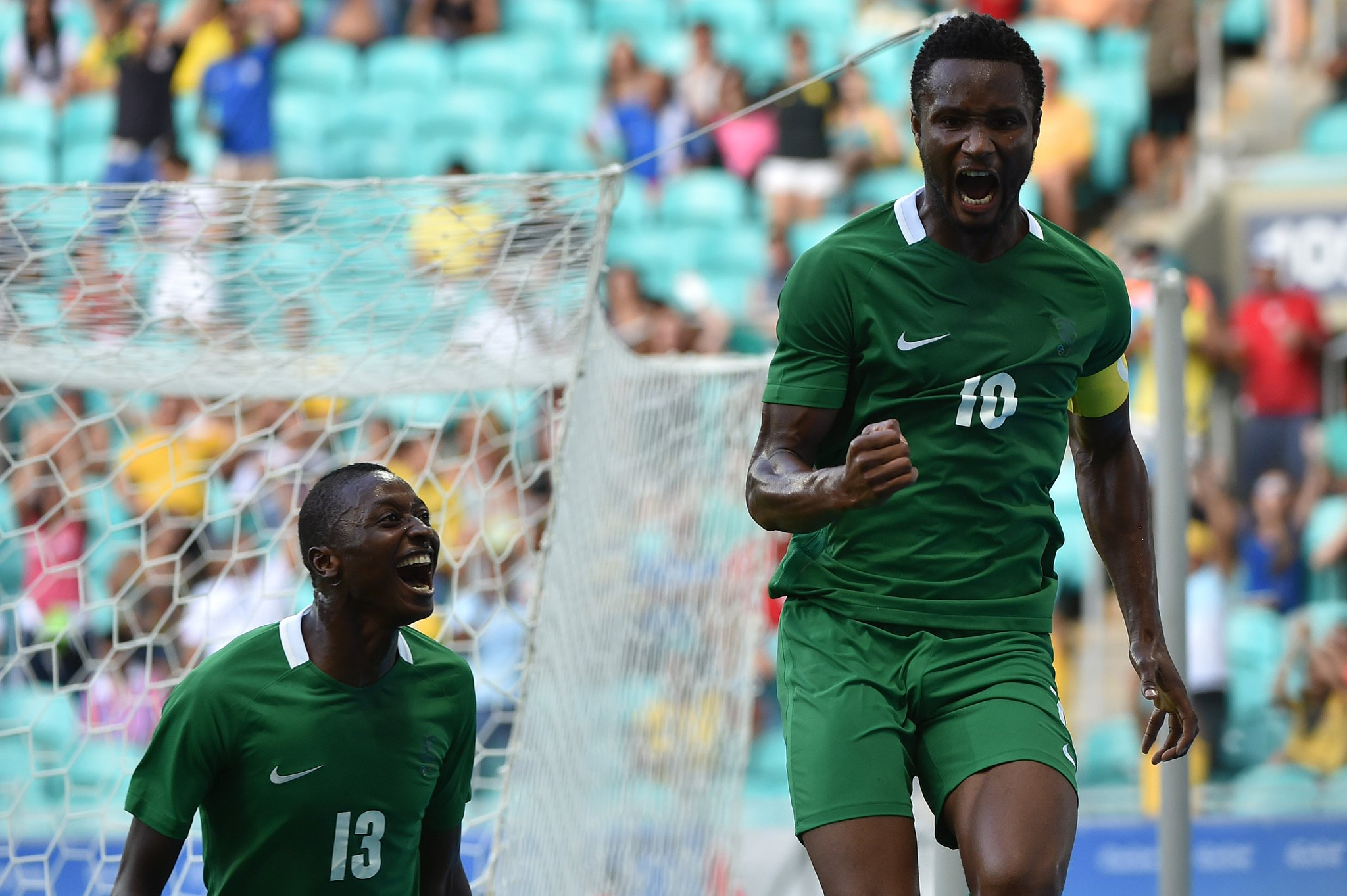 Mikel Scores As Olympic Eagles Outclass Denmark To Reach Semis