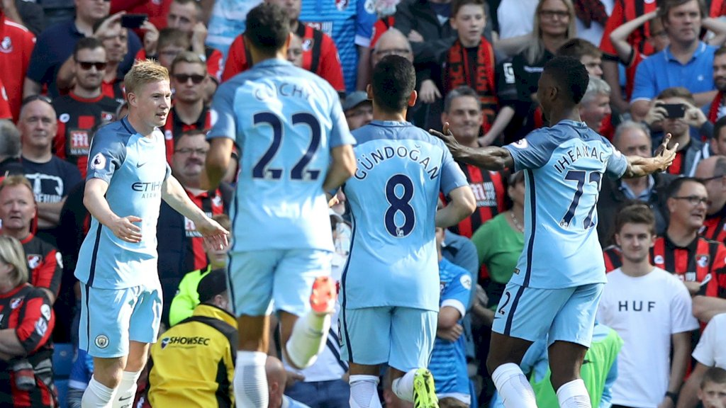 "Iheanacho Praises ""Brilliant"" De Bruyne After Bournemouth Rout"