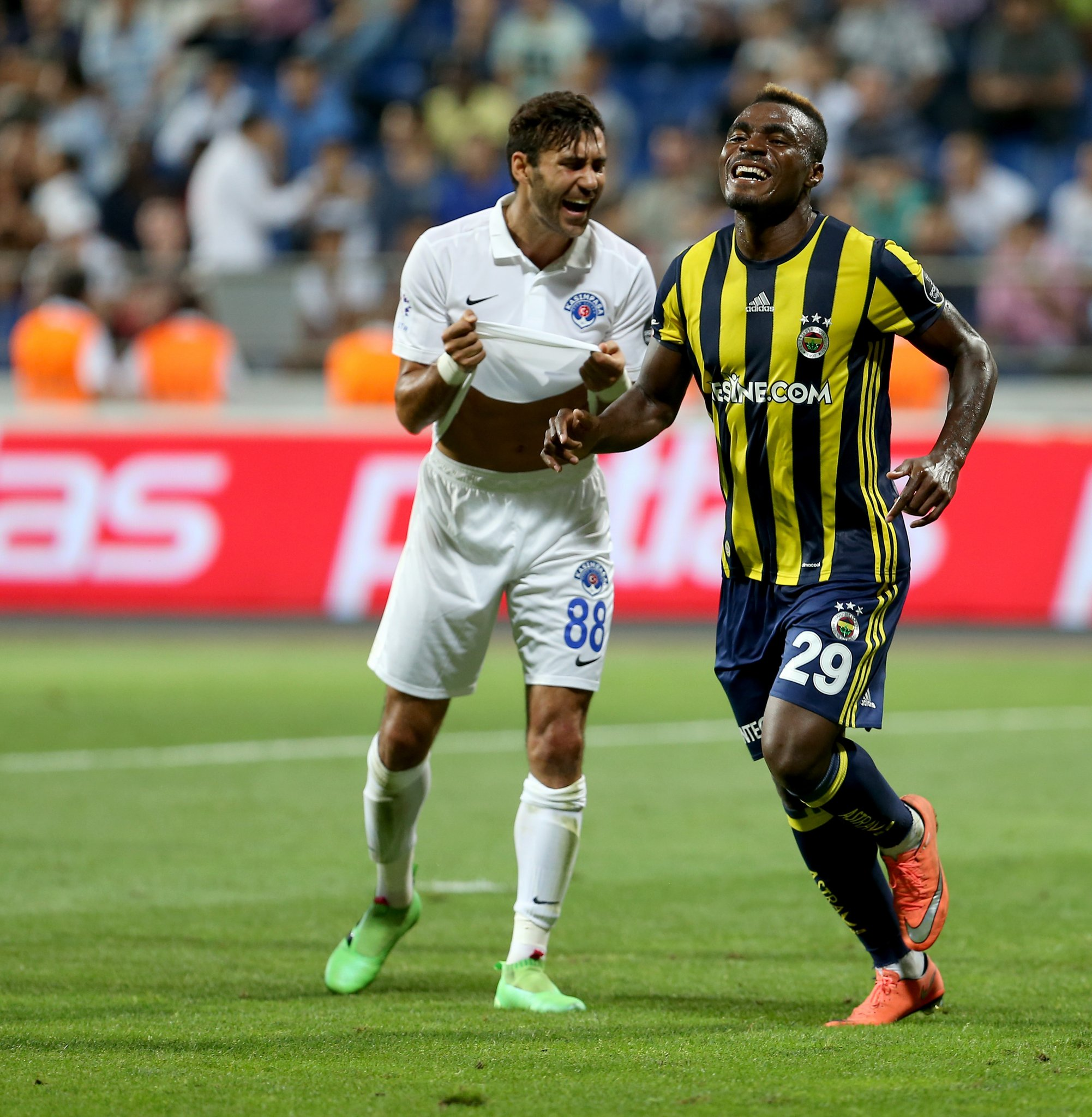 Emenike Scores First League Goal As Fenerbahce Rout Eduok's Kasimpasa