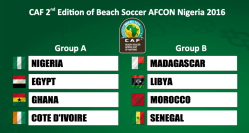 Image result for Nigeria, Ghana, two others drawn in 2016 Beach Soccer Africa Cup of Nations