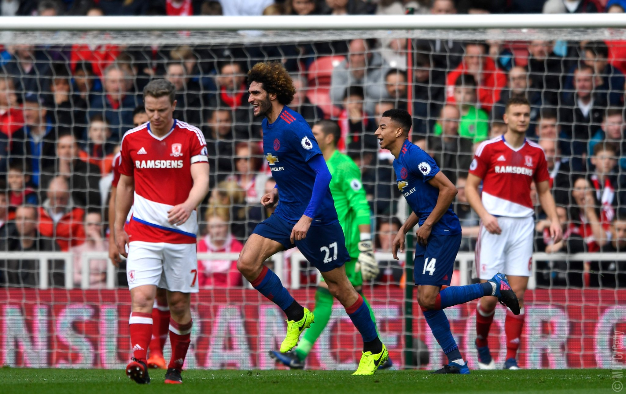 Man United Outsmart Stubborn Boro To Go Fifth