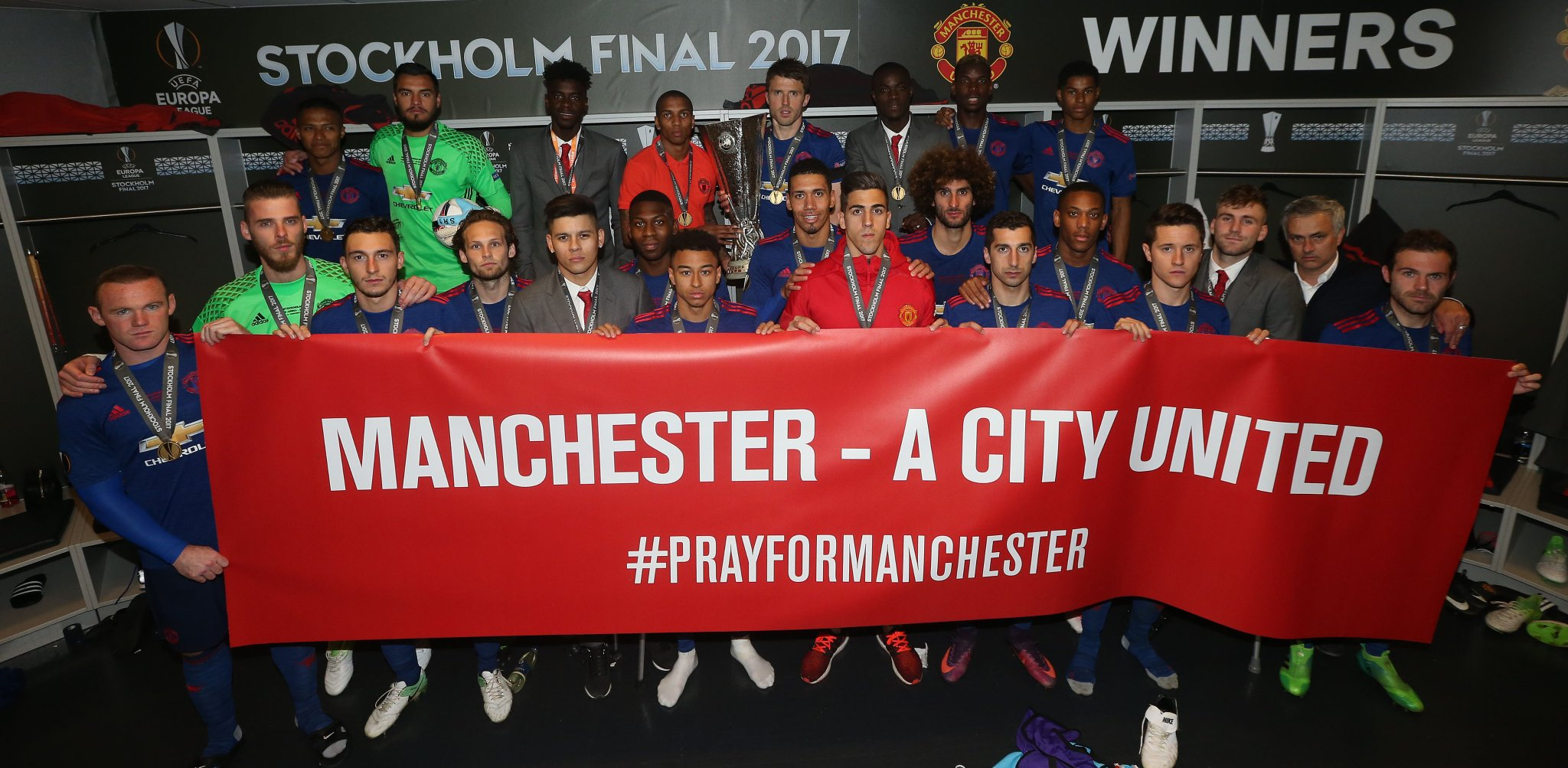 Man United Dedicate Europa League Trophy To Manchester Terror Victims