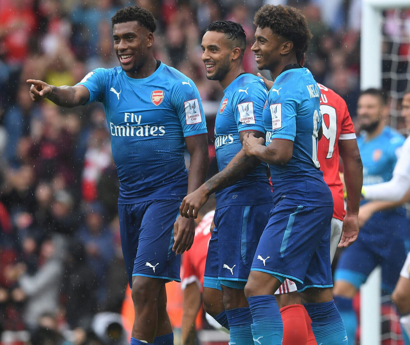 """Iwobi Celebrates """"Good Day At The Office"""" After Emirates Cup Goal"""