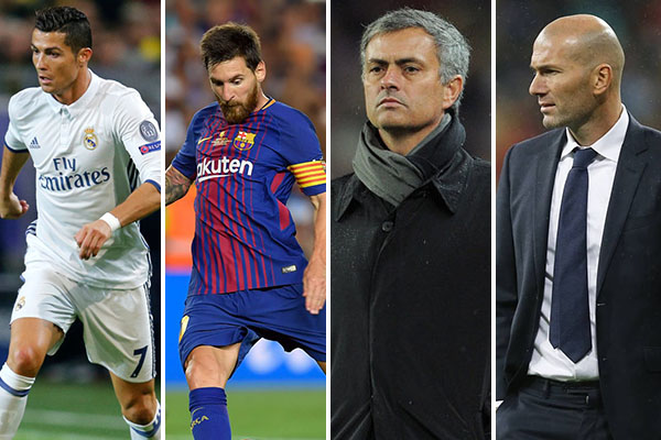 Ronaldo, Messi, Hazard, Neymar, Zidane, Mourinho Up For FIFA Best Awards