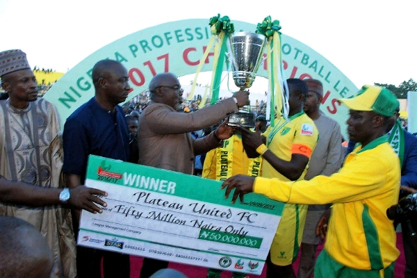 Plateau United Are NPFL Champions; 3SC, ABS Relegated; Okpotu Wins Golden Boot