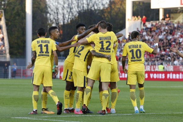 Thomas Meunier strikes twice as PSG leave it late against Dijon