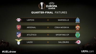 Arsenal to play CSKA Moscow in Europa League quarterfinals