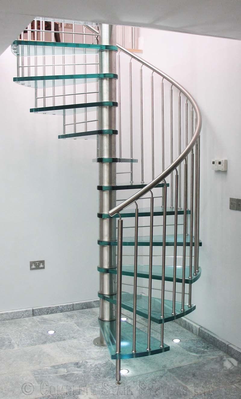Spiral Staircase Suffolk A Bespoke Glass Tread Spiral   Steel Spiral Staircase Price