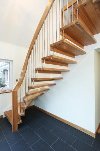 Bespoke Timber Staircase Aberdeen with Floating Treads