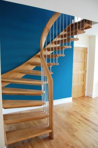 Bespoke Timber Staircase with floating oak treads - click ...