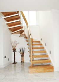 Timber Staircase Southampton with oak treads. Professional ...