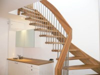 Timber Staircase Stanmore with open risers - floating ...