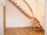 Timber Staircase Lanarkshire with floating oak treads