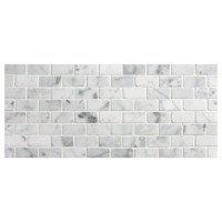 Carrara Marble Mosaic Tile Backsplash
