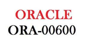 ORA-00600: internal error code, arguments: [%s], [%s],[%s], [%s