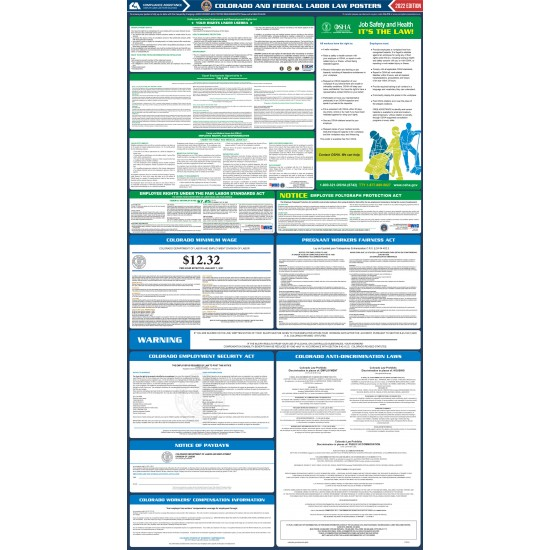 2021 colorado state and federal all in one labor law poster