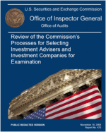 Review of the Commission's Processes for Selecting Investment Advisers and Investment Companies for Examination