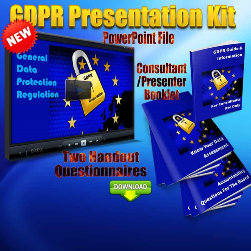 GDPR general data protection regulation 2018 eu presentation kit