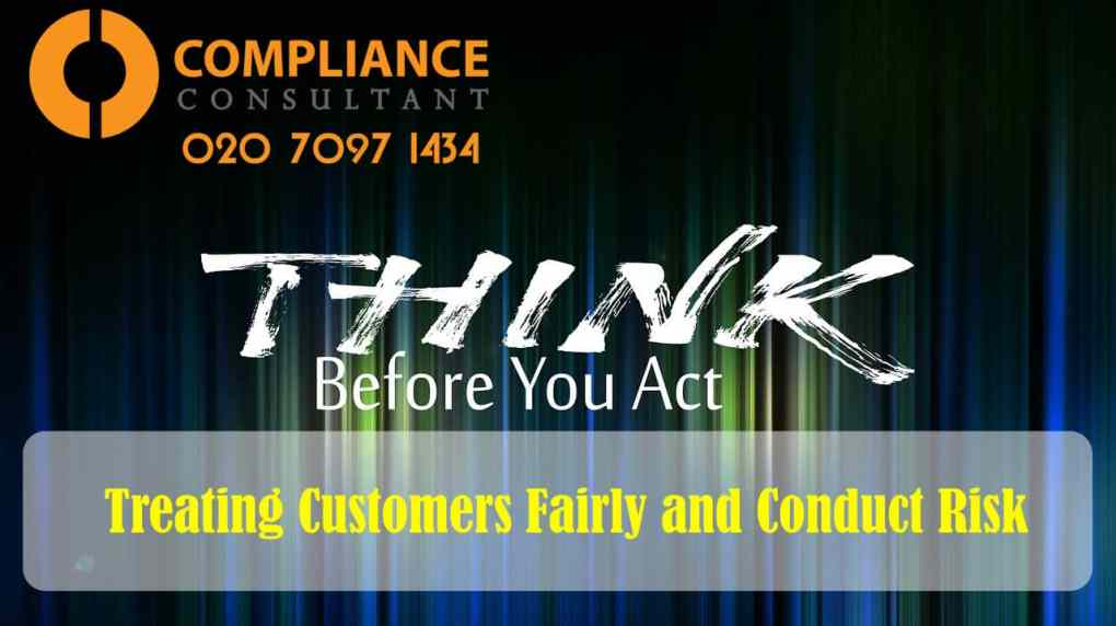TCF CR treating customers fairly course conduct risk