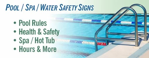 Swimming Pool  Spa  Water Safety Signs and Labels