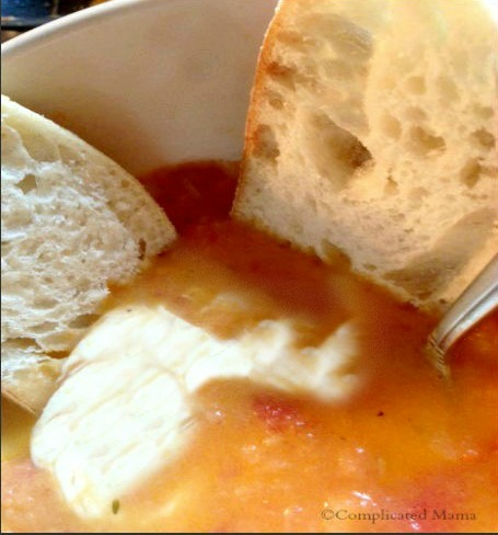 Creamy Roasted Tomato Fresh Mozzarella Soup