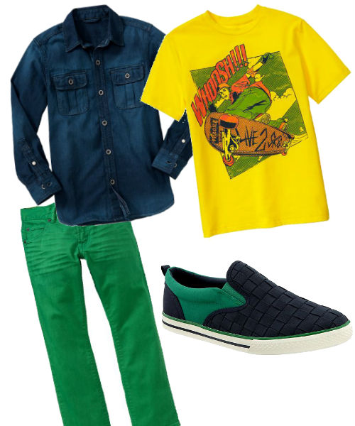 Colored Denim Boys Back To School Trend Skinny Jeans Boys fall back to school trends Gap 2013