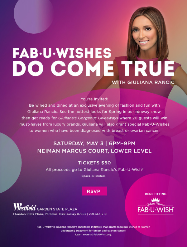 Fab U Wish Giuliana Rancic NJ