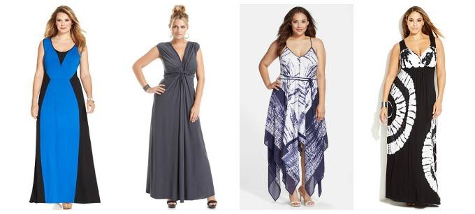 Maxi-dresses for plus size women