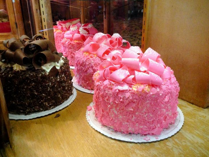 Kids Madonna Inn_ Pink Champaign Cake