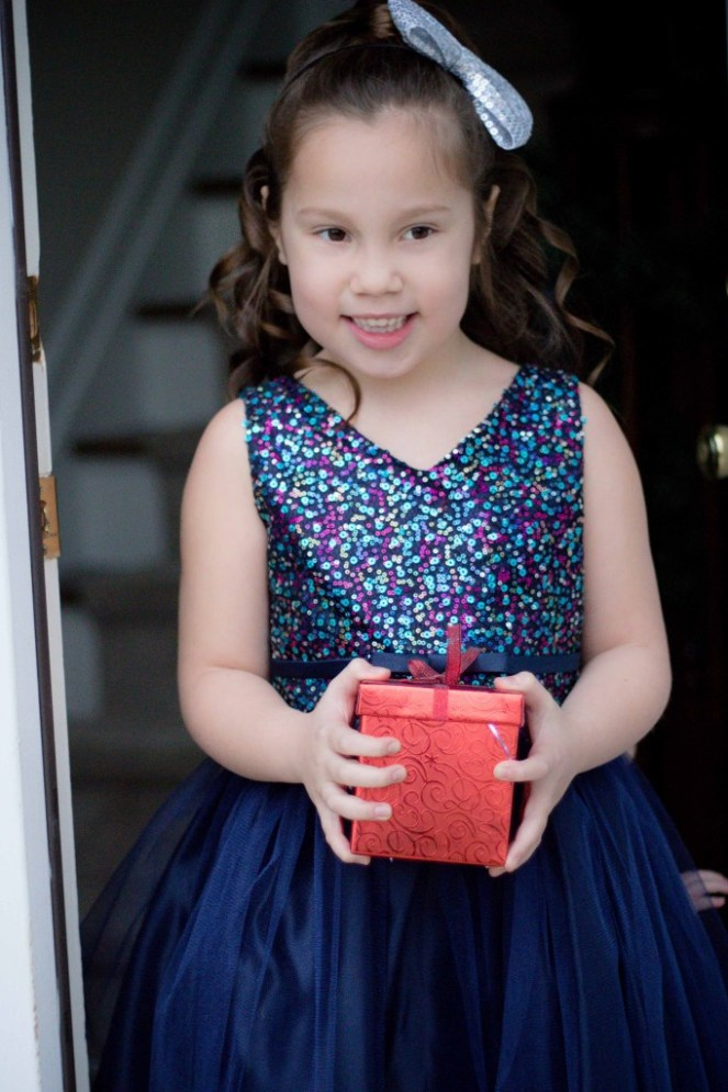 Pink Princess Navy Blue Tulle Party Dress Review-10