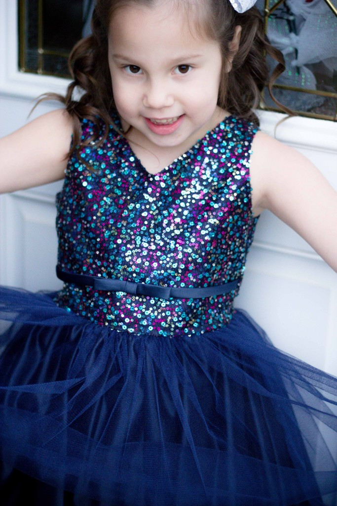 Pink Princess Navy Blue Tulle Party Dress Review-15