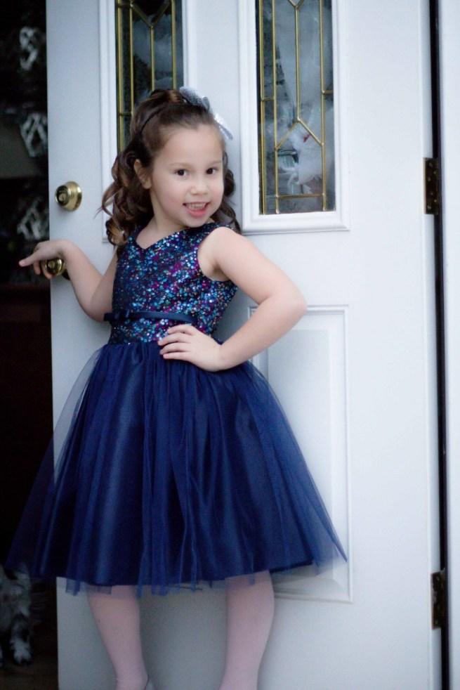 Pink Princess Navy Blue dress take 2-3