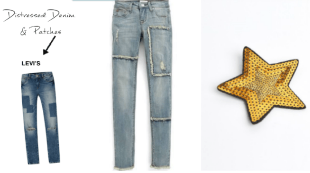 Distressed Denim Patches Back To School Trend
