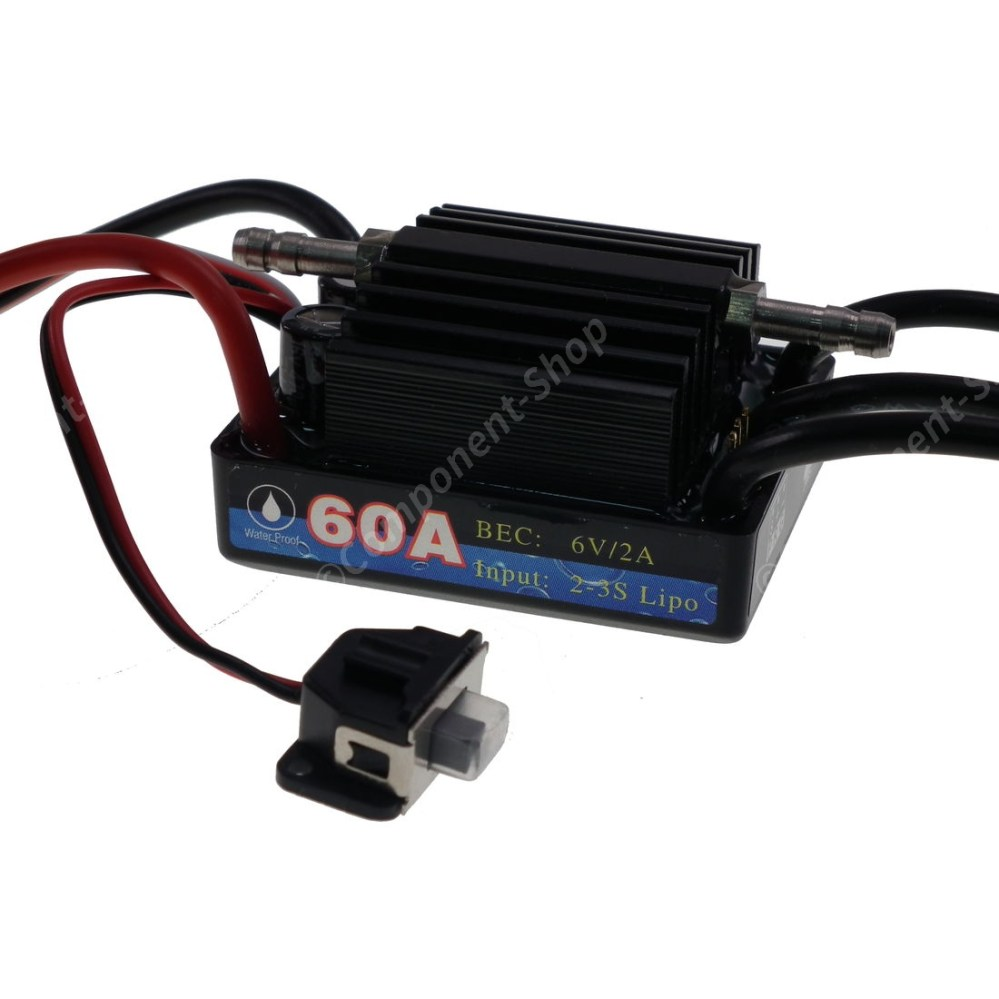 medium resolution of 60a marine v3 waterproof brushless motor speed controller esc wiring diagram for brushed rc boat leopard