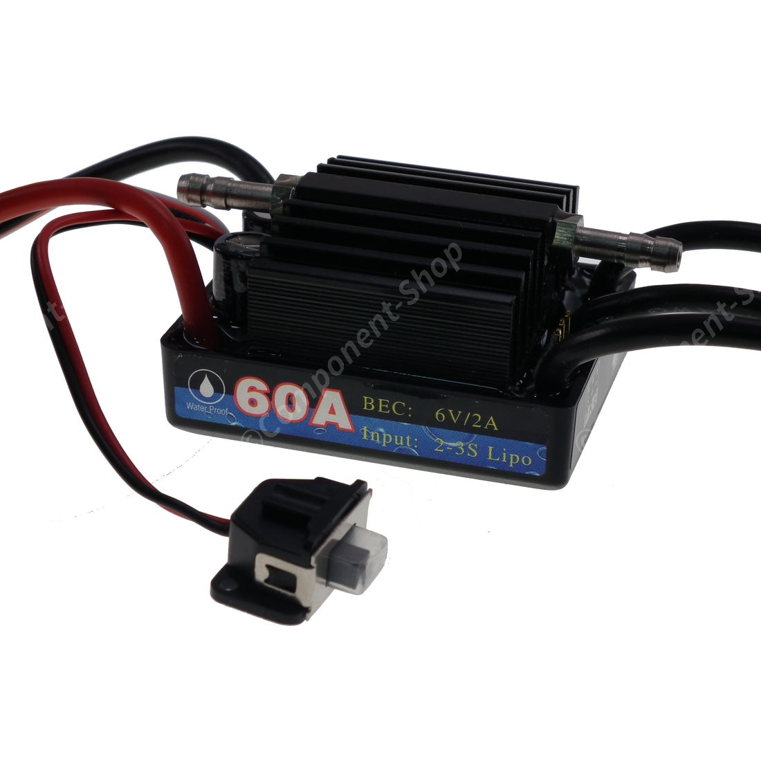 hight resolution of 60a marine v3 waterproof brushless motor speed controller esc wiring diagram for brushed rc boat leopard