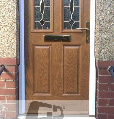 Oak 2 panel 2 square 1 arch Composite Door