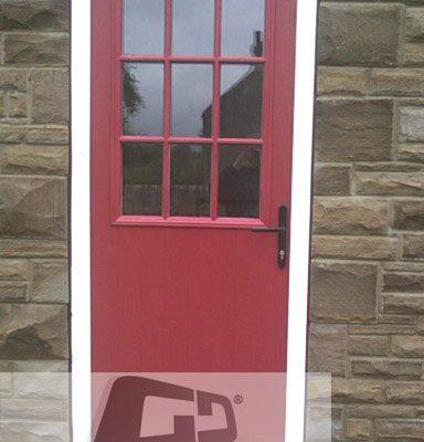 Red 2 panel Sunburst Composite Door