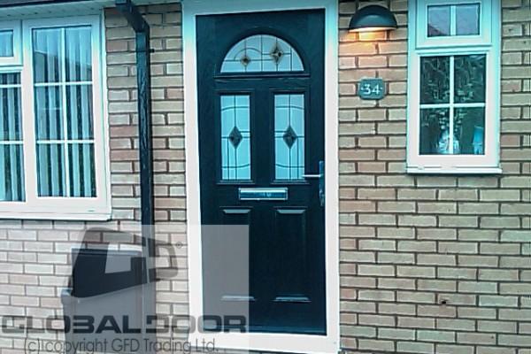 black 2 panel 2 square 1 arch Composite Door
