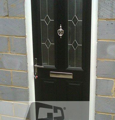 black 2 panel 2 square Composite Door 4