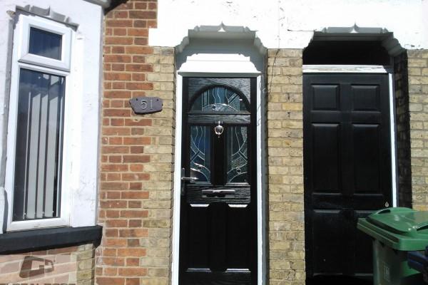 black 2 panel 2 square composite door 9