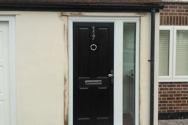 black 4 panel Composite Door 4