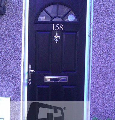 black 4 square 1 sunburst Composite Door