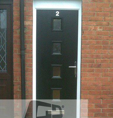 black 4 square composite door 3
