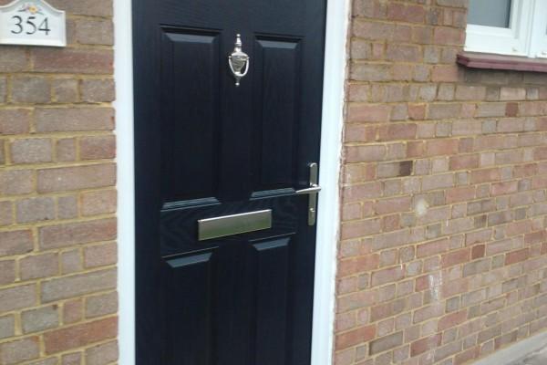black 6 panel Composite Door 2