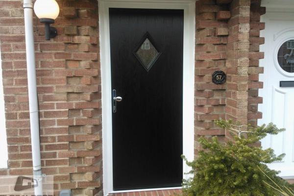 black diamond composite door
