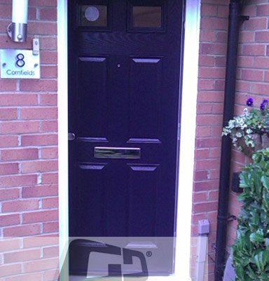 blue 4 panel 2 square Composite Door