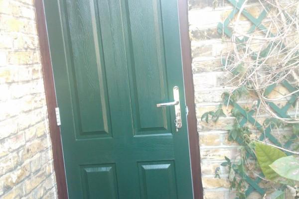 green 4 panel composite door