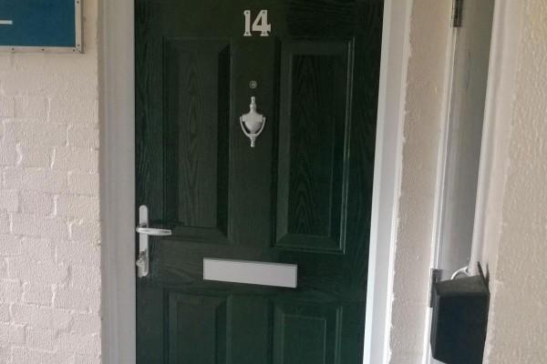green 6 panel Composite Door 4