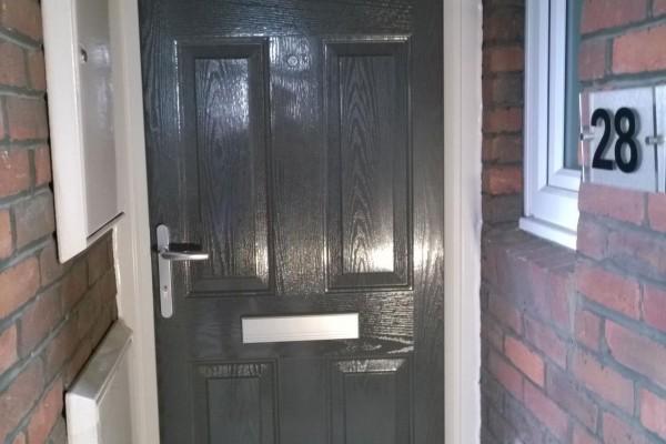 grey 6 panel Composite Door