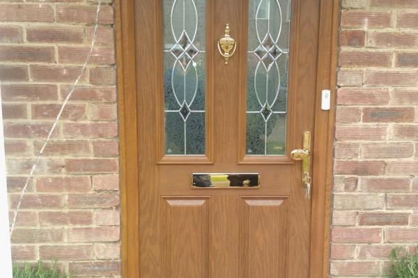 oak 2 panel 2 arch Composite Door 4